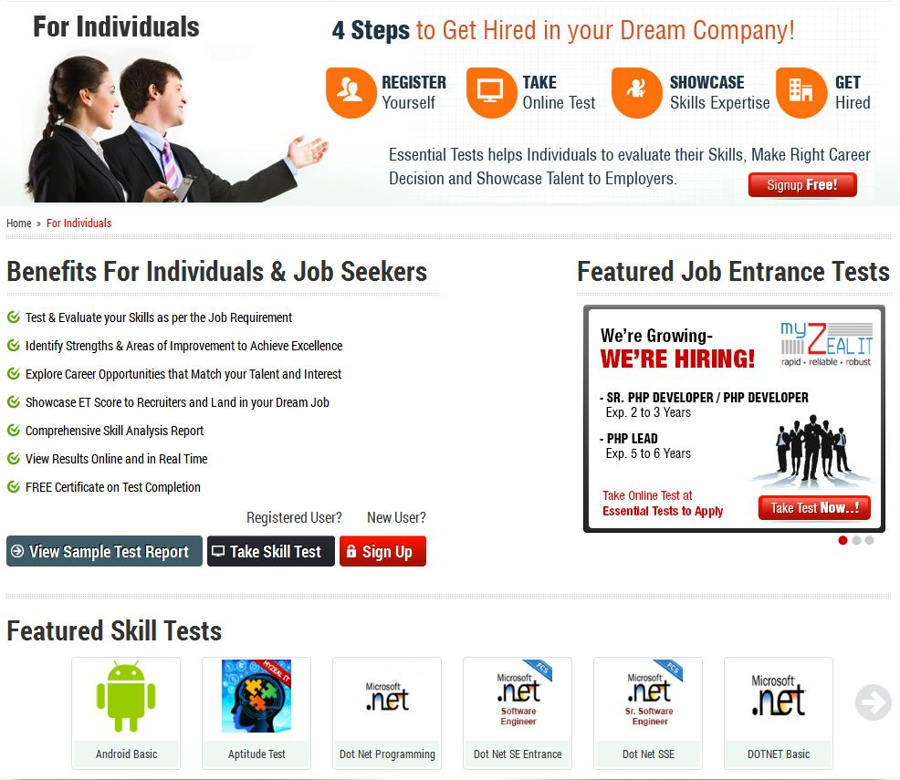 Services For Job Seekers & Individuals